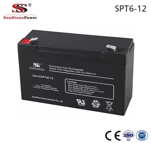 Sunstone Power Akku Batterien 6V 12AH AGM Solarzellen Batterie C20