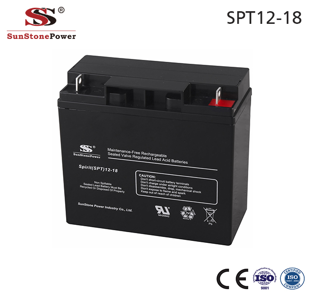 Sunstone Power USV Batterien 12V 18AH Solar Batterie AGM Technologie